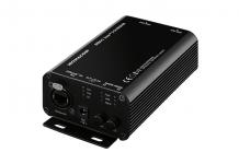 Die beiden Signalwandler der Monacor DT-Serie heißen DTTA-2 und DTRA-2. Der DTTA-2 hat primär die Aufgabe, analoge Mikrofon- oder Line-Pegel-Signale in ein Dante-Audionetzwerk einzuspeisen. Dazu gibt es zwei XLR-Eingänge mit einzeln schaltbarer 12-Volt-Phantomspeisung.