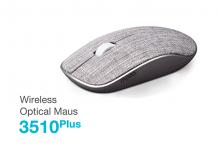 Rapoo: 3510 Plus Wireless Optical Maus mit Stoffoberfläche