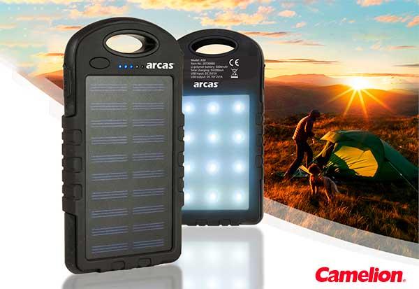 Camelion: Leistungsfähige Arcas Solar-Powerbank S60