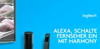 Logitech: Harmony-Fernbedienung mit Alexa-Sprachsteuerung