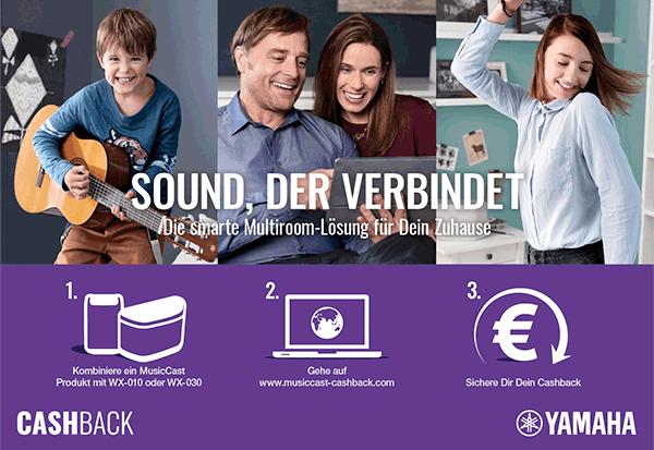 Yamaha Cashback-Aktion zu MusicCast-Produkten