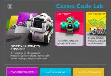 Constructor Mode für Spielzeugroboter Cozmo