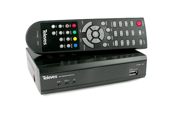 Kompakter Satelliten-Receiver HD1 von Televes