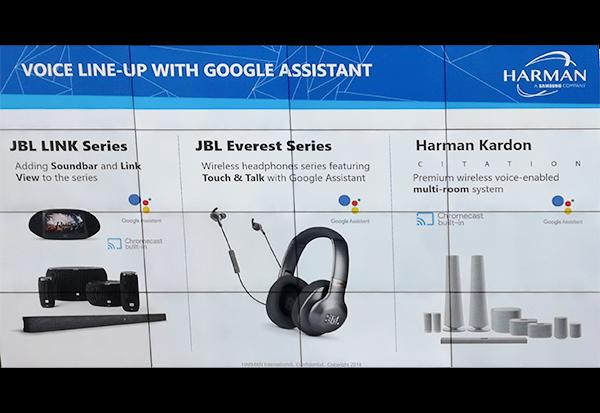 Harman präsentiert 12 neue Produkte mit Google-Sprachsteuerung