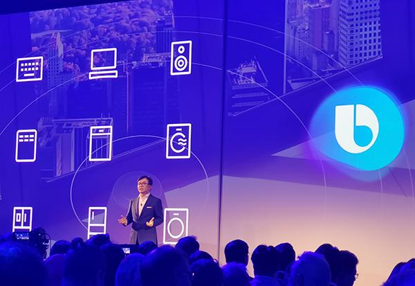 Samsung setzt auf die eigene Bixby Sprachsteuerung - HS Kim, Chef der Consumer Division, auf der IFA Pressekonferenz