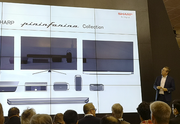 Sharp: Sascha Lange, VP Marketing Sales, kündigt Design-TVs in Zusammenarbeit mit Pininfarina an