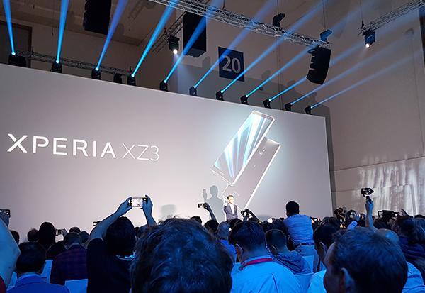 Sony präsentiert das neue Xperia XZ3 auf der IFA Pressekonferenz