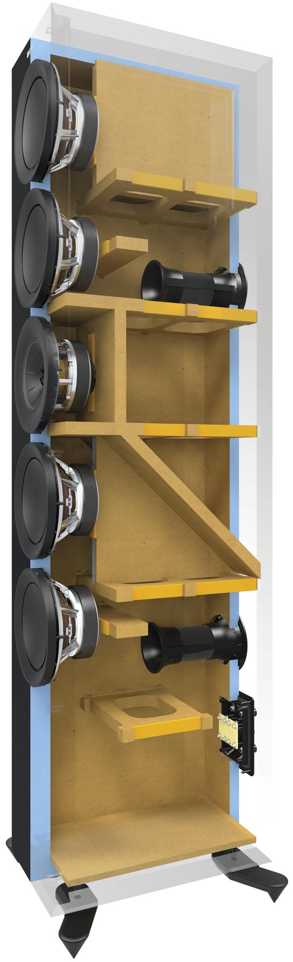 KEF-R11 Cabinet-Cutaway