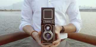 Rolleiflex Sofortbildkamera von Rollei. Foto: Rollei