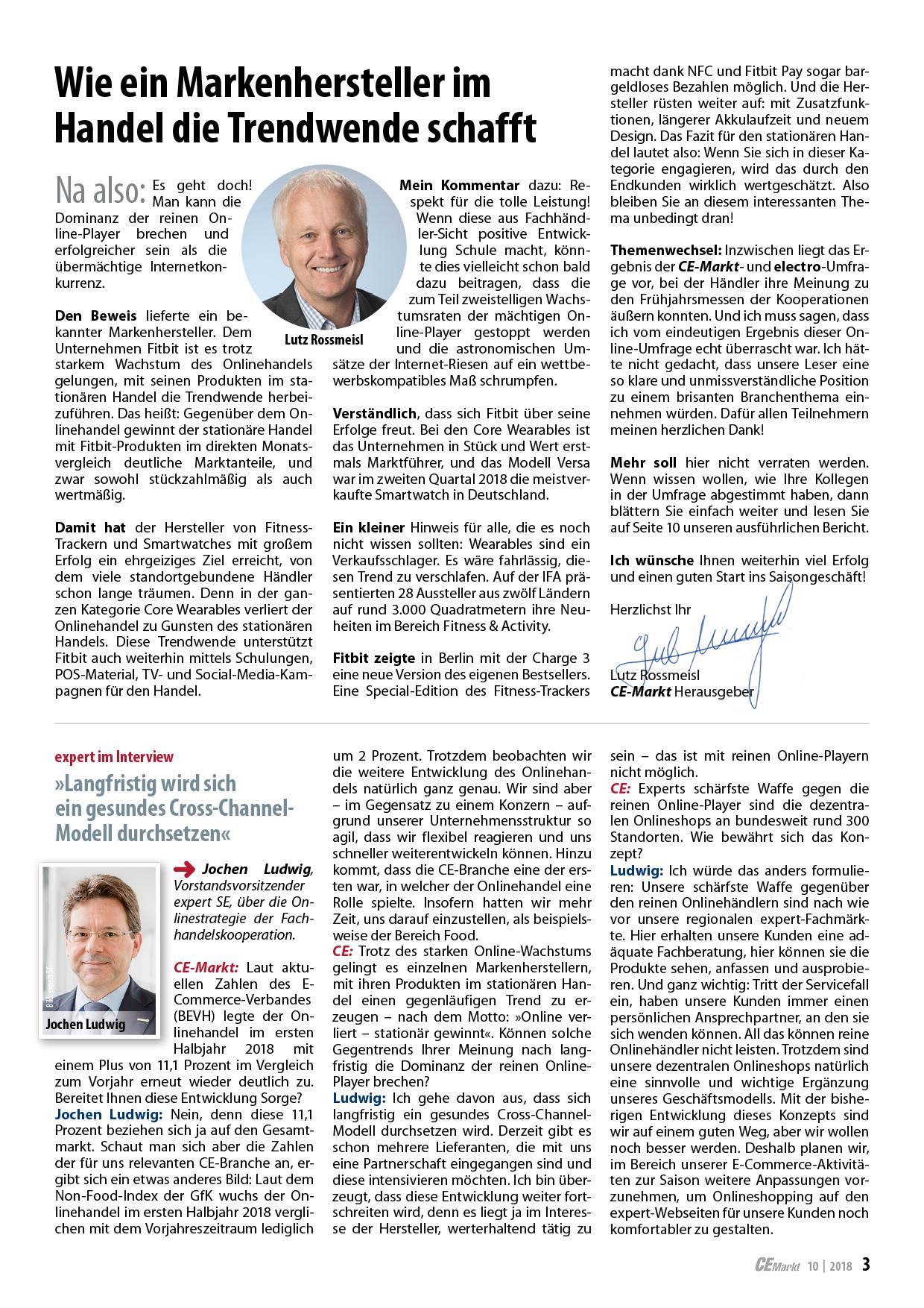 CE-Markt 10-2018: Editorial und Inhalt
