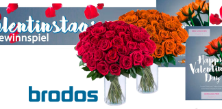 Brodos Gewinnspiel zum Valentinstag