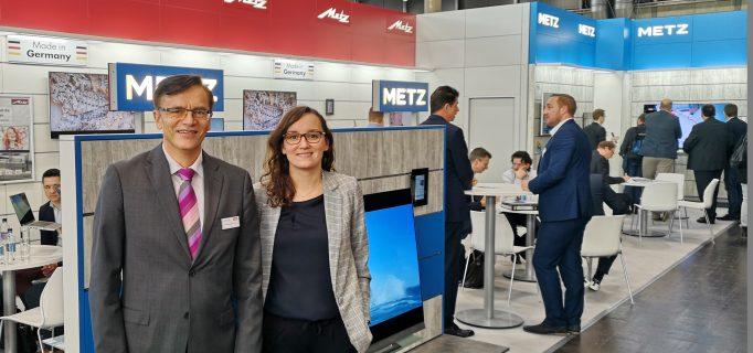 Metz-Geschäftsführer Dr. Norbert Kotzbauer mit Marketingleiterin Sandra Tronczyk