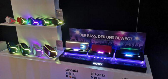 Range der tragbaren Bluetooth-Speaker von Sony