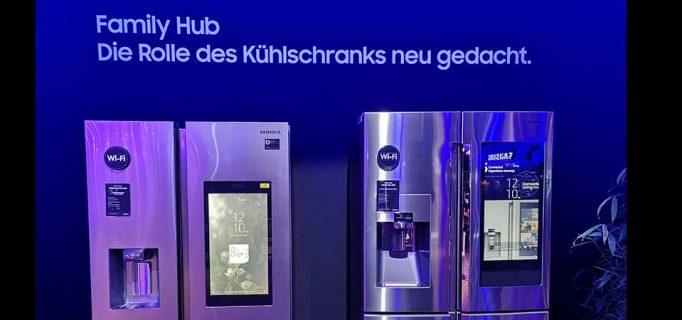 Vernetzter Samsung-Kühlschrank Family Hub