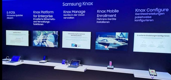 Sicherheitsplattform Samsung Knox für die Verwaltung von Mobilgeräten im Business-Einsatz