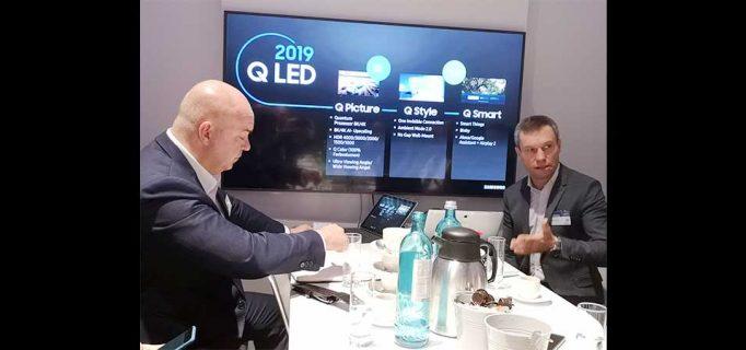 Fachpresse-Gespräch mit Leif-Erik Lindner, Vice President TV & AV, und Mike Henkelmann, Director Marketing AV Samsung Electronics GmbH