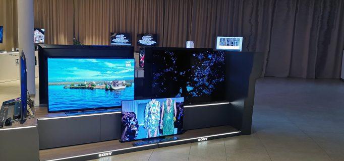 So werden die OLED- und Bravia 4K-TVs von Sony im Handel präsentiert