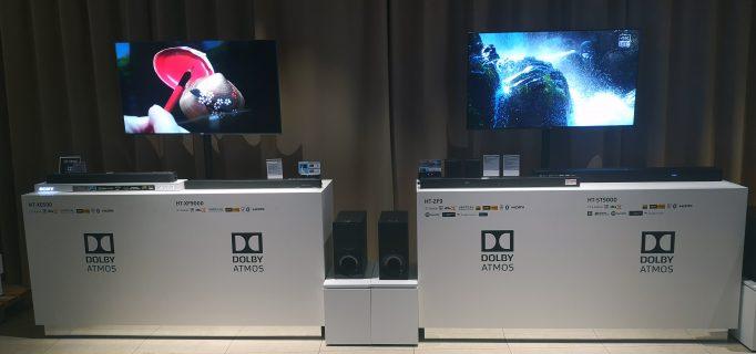 Auch die Soundbars von Sony lassen sich am POS vorführen und anhören