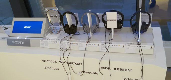 POS-Präsentation der Sony-Kopfhörer