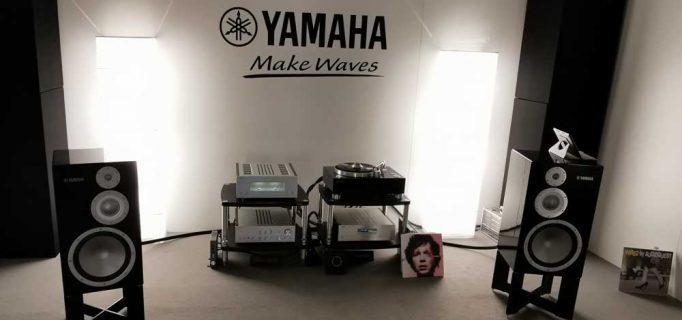 Yamaha Setup der 5000er Serie, bestehend aus C-5000 Vorstufe, M-5000 Endstufe, GT-5000 Plattenspieler und NS-5000 Lautsprecher