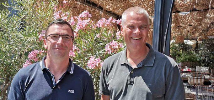 Unter der Sonne Spaniens informierten Sales Director CE Michael List und Managing Director Kai Hillebrandt über die Fachhandelsaktivitäten von Panasonic