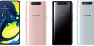 Samsung Galaxy A80 mit rotierender Triple-Kamera