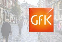 GfK Logo vor Einkaufsstraße.
