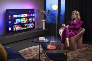 Philips TV OLED 855 mit Android 9. Foto: Philips