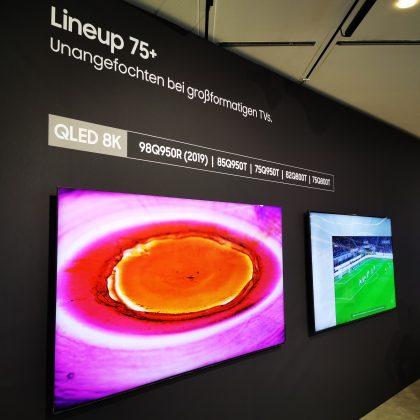 Samsung TV Line-up 75 Zoll und größer