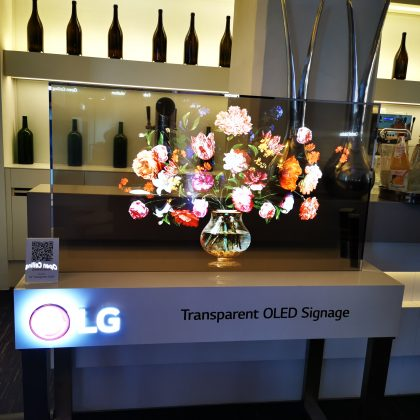 Transparentes OLED-Display von LG