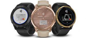 Garmin Smartwatches mit Garmin Pay. Foto: Garmin