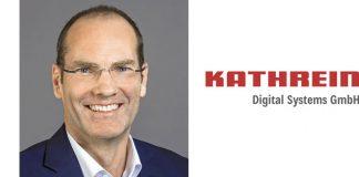 Portrait Uwe Thumm, Managing Director und Logo Kathrein DS. Foto: Kathrein DS