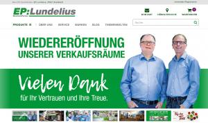 EP:Lundelius Homepage Wiedereröffnung nach Corona-Lockdown