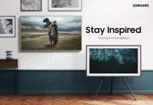 Samsung The Frame TV mit The Home Exhibition Fotografien