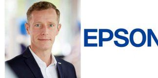 Jörn von Ahlen mit Epson-Logo