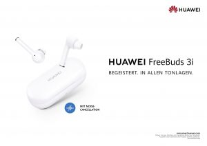 Werbeplakat für Huawei Free Buds 3i. Foto: Huawei