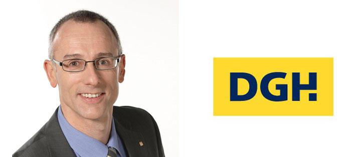 Walter Dürr mit DGH-Logo