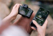 Lumix G110, Bildübertragung von Kamera aufs Smartphone