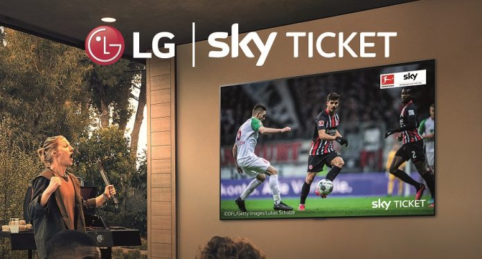 LG Sky Ticket Kooperation. Foto: LG Electronics
