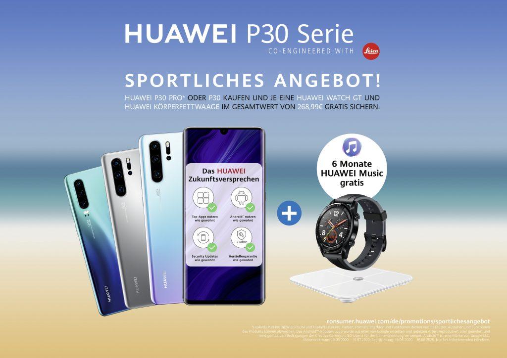 Huawei Sommeraktion 2020 P30. Foto: Huawei
