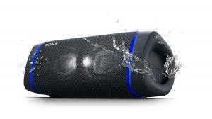 Sony XB33 Lautsprecher mit Wasserspritzer