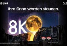 "Samsung ""Alle Sinne""-Kampagne Keyvisual QLED 8K Mond"