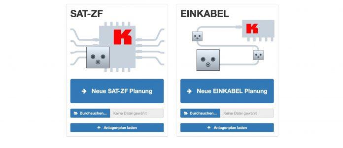Kathrein Sat-Planungstool Einkabel-Systeme