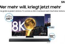 Samsung Cashback 2020: 8K QLED TV mit Galaxy-Smartphone S20