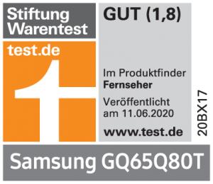 StiWa Produktfinder Samsung-Fernseher GQ65Q80T