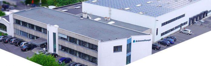 Brömmelhaupt Firmengebäude in Frechen, Blick von oben