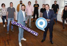 Gruppenfoto mit Felix Falk, CEO of game, und Verkehrsminister Andreas Scheuer. Foto: Franziska Krug/Getty Images