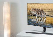 Hama TV-Standfuß: Fernseher auf Tisch