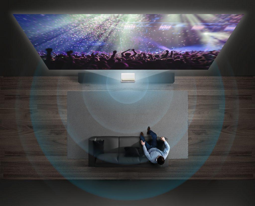 Raumfüllender Sound mit Samsung The Premiere. Foto: Samsung