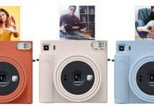 Fujifilm Sofortbildkamera instax Square SQ1 in drei Farben